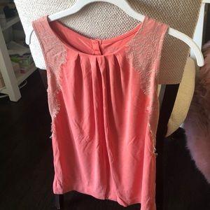 Pink modal blouse/tank top